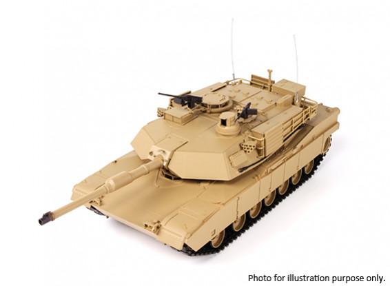 SCRATCH / DENT - US-M1A2 ABRAMS RC Tank w / 2.4ghzTX, pistes métalliques, Sound & Airsoft (RTR)