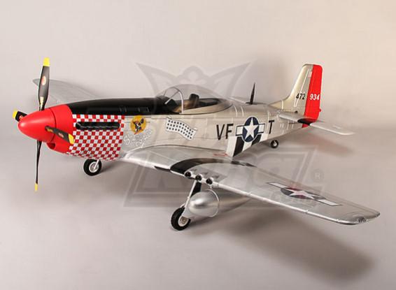 P-51D Shangri La 1600mm EPO w / escamote électriques, volets, lumières (PNF)