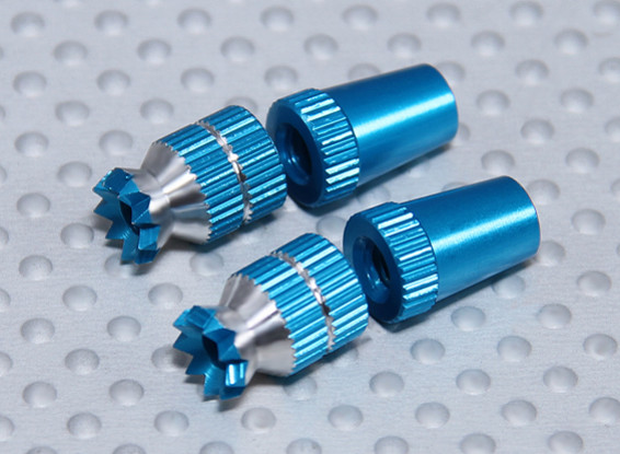 Alliage Anti-Slip Contrôle TX Sticks Short (M3 pour Futaba - Bleu)