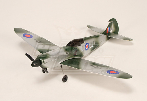 Micro Spitfire w / 5A ESC, BL-moteur, 2.5g Servo & LiPo
