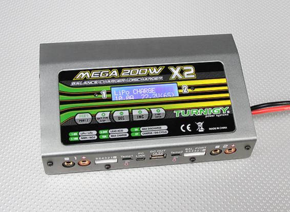Turnigy Mega 200Wx2 Chargeur de batterie / déchargeur (400w) V2