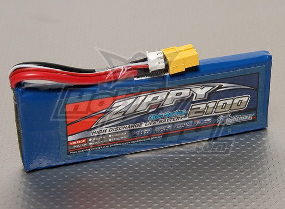 ZIPPY FlightMax 2100mAh 2S1P 30C LiFePo4 Paquet
