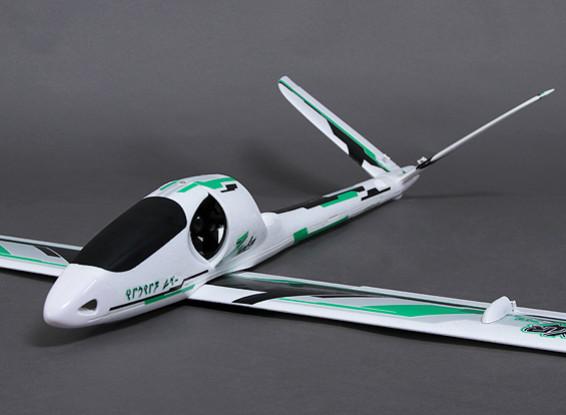 Durafly ™ Zephyr V-70 EDF V-Tail Planeur w / 70mm EDF / 1533mm moteur (ARF)