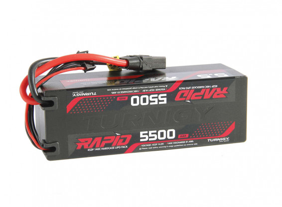Turnigy Rapid 5500mAh 4S2P 140C Hardcase Lipo Battery Pack w/XT60 Connector