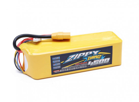 ZIPPY-Compact-4500mAh-6s-40c-LiPo-Pack-wXT90-9067000327-0