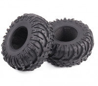 1/10 Scale Dissected Chevron 1.9 Beadlock Crawler Tyres Soft Compound with Foam Inserts (2pcs)