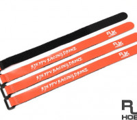 RJX Ultra-Grip Silicone Velcro Battery Straps Orange (300X20mmx4pcs)