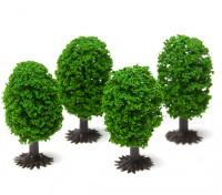 HobbyKing™ 50mm Scenic Model Trees with Base (4 pcs)