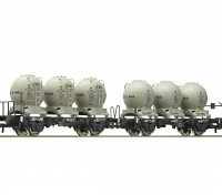 Roco/Fleischmann HO Double Carriage Wagon w/ Detachable Spherical Silo Containers DB