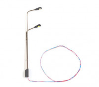 HO/OO Scale Working Modern Angled Arm Twin Stanchion Double Level Street Lamp 1/75 1pc