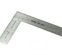 "Zona Precision 3 ""x 4"" en acier inoxydable L Place Ruler"