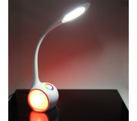 LED Table Reading Lamp With Wireless Speaker Charger Adjustable Color & Brightness