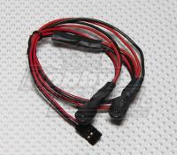 2 LED rouge clignotant