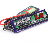 Turnigy nano-tech 1800mah 2S 25 ~ 50C Lipo AIRSOFT Paquet