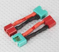 MPX Connecteur Adaptateur Batterie T-Connector Lead (2pcs)