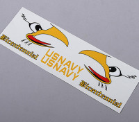 Tail US Navy auto-adhésif Decal - Bicentenaire (costume 70mm / 90mm EDF)