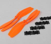 10x4.5 SF Props 2pc CW 2 pc CCW Rotation (Orange)