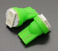 LED Corn Lumière 12V 0.4W (2 LED) - Vert (2pcs)