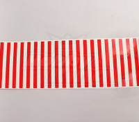 Decal Motif feuille de Red Stripe / Clear 590mmx200mm