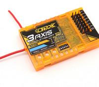 OrangeRx RX3S 3-Axis Vol Stabilisateur w / DSM2 Compatible 6CH 2.4Ghz Receiver