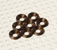 Fraisée Rondelle en aluminium anodisé M3 (Titanium Couleur) (8pcs)