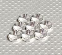 Fraisée Rondelle en aluminium anodisé M5 (Argent) (8pcs)