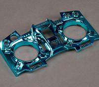 Turnigy 9XR Transmetteur personnalisé Faceplate - Blue Metallic