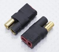 5.5mm Bullet Connecteur Adaptateur Batterie T-Connector Lead (2pc)