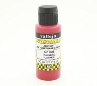 Peinture acrylique de couleur Vallejo Premium - Carmine (60ml)