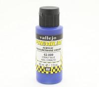 Peinture acrylique de couleur Vallejo Premium - Bleu Cobalt (de 60ml)