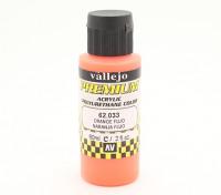 Peinture acrylique de couleur Vallejo Premium - orange Fluo (60ml)