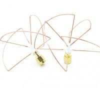 2.4GHz à polarisation circulaire antenne SMA (Set) (Short)
