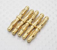 4.0mm à 4.0mm d'or mâle à mâle Adaptateur (5pc)