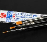 Tamiya Standard Haute Fini 3 Piece Brush Set