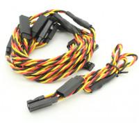 30cm Twisted Leads Y Servo (JR) 24AWG (5pc)