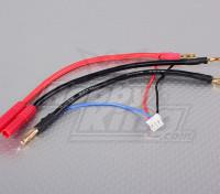 HXT-4mm Plug-harnais pour Lipo 2S Saddle pack de batteries LiPoly