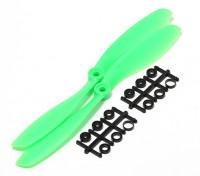 Turnigy slowfly Hélice 8x4.5 Green (CW) (2pcs)