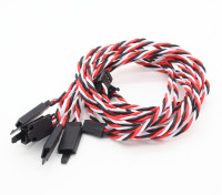 Twisted 45cm Servo Extention Lead (Futaba) avec crochet 22AWG (5pcs / bag)