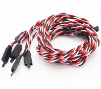 Twisted 80cm Servo Extention Lead (Futaba) avec crochet 22AWG (5pcs / bag)