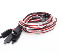 45CM Servo Lead Extention (Futaba) avec crochet 26AWG (5pcs / bag)