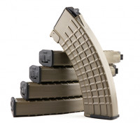 King Arms 600rounds Waffle Motif magazines pour Marui AK AEG (Dark Earth, 5pcs / box)