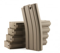 King Arms 120rounds magazines pour les séries Marui M4 / M16 AEG (Dark Earth, 5pcs / box)