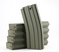 King Arms 120rounds magazines pour les séries Marui M4 / M16 AEG (Olive Drab, 5pcs / box)