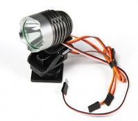 Searchlight puissant avec Built-In Pan / Tilt et Lumière à distance de commutation de mode