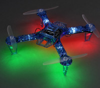 HobbyKing FPV250 V4 Bleu Esprit Édition LED Night Flyer FPV Quad Copter (Bleu) (Kit)