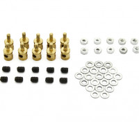 Brass Linkage Stopper Pour Pushrods 2mm (10pcs)