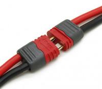 T Type de connecteur mâle / femelle avec capuchons isolants (10 paires)