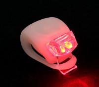 Blanc Silicon Mini-lampe (LED rouge)