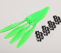 GWS style slowfly Hélice 10x4.5 Green (CCW) (4pcs)