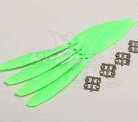 GWS style slowfly Hélice 11x4.7 Green (CCW) (4pcs)